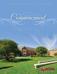 Commencement Program (pdf) - Frostburg State University