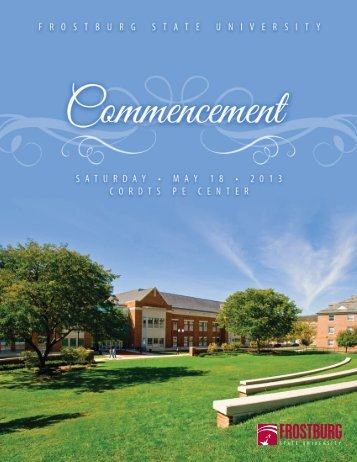 Commencement Program (pdf) - Frostburg State University