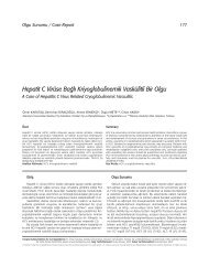 Hepatit C Virüse Ba¤l› Kriyoglobulinemik Vaskülitli Bir Olgu