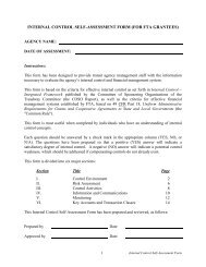 internal control self-assessment form - Federal Transit Administration
