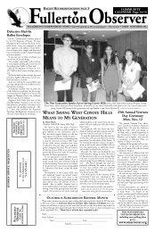 EARLY NOVEMBER 2012 The - Fullerton Observer