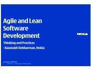 Agile and Lean Software Development - FRUCT