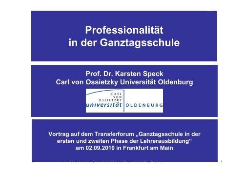 06 Vortrag Speck Professionalität an Ganztagsschulen
