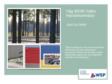 Väg 80/56 Valbo Handelsområde