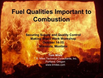Fuel Qualities Important to Gasification and Combustion - Fuels for ...