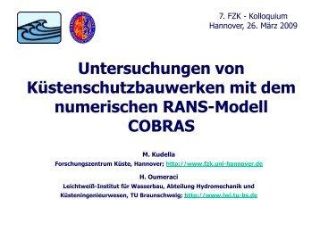 Untersuchungen von Küstenschutzbauwerken mit dem ... - FZK