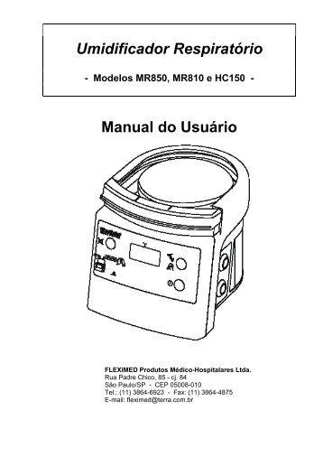 Umidificador Respiratório Manual do Usuário - FisioCare
