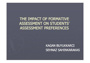 THE IMPACT OF FORMATIVE ASSESSMENT ON STUDENTS ...