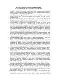Pravidlá prijímacieho konania na bakalárske štúdium