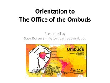 What is the Role of An Ombudsman? - Gallaudet University