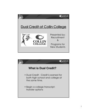 Dual Credit at Collin College - Frisco ISD