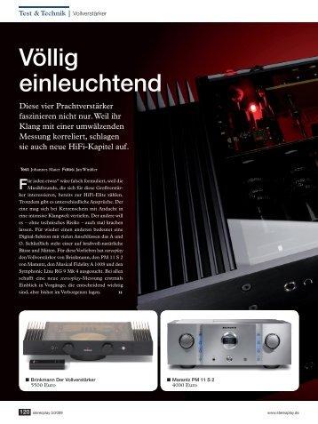 Brinkmann Vollverstärker - Goosebumps Audio
