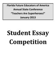 Florida Future Educators of America Annual State Conference ...