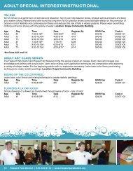 ADULT SPECIAL InTEREST/InSTRUCTIonAL - Freeport Park District