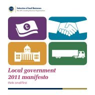 Local government 2011 manifesto - Federation of Small Businesses