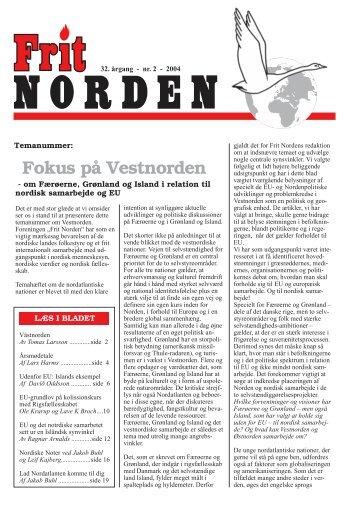 Vestnorden, August 2004 - Frit Norden