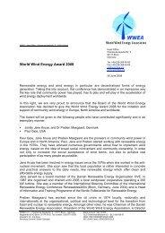 World Wind Energy Award 2008 - Nordic Folkecenter for Renewable ...