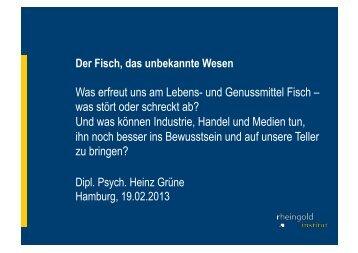 Der Fisch, das unbekannte Wesen - Fischmagazin.de