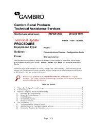PH-11050 Phoenix Communications - Davita ... - Gambro