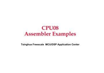 CPU08 Assembler Examples
