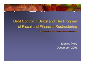 Monica Mora, Economist, Institute for Applied ... - Fiscal Reform