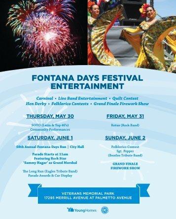 Fontana Days Festival 5/30-6/2