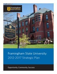 Strategic Plan 2012-2017 - Framingham State University