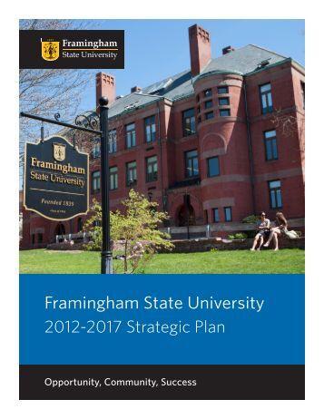 Strategic Plan 2012-2017 - Framingham State University