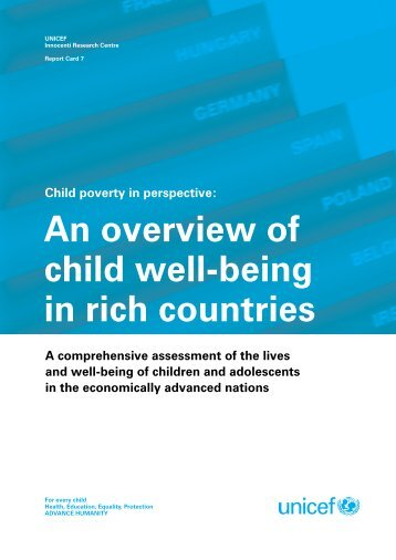 An overview of child well-being in rich countries - Unicef