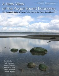Earth Economics Puget Sound Ecosystem Valuation