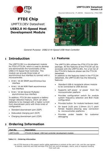 UMFT313EV Development Module - FTDI