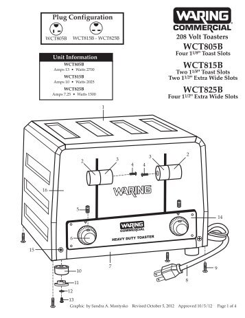 wct805b wct815b wct825b waringr commercial parts town?quality=85 vertical contact toaster (296 & 297 series) parts town  at bakdesigns.co