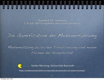 Die Gamification der Medienerfahrung - Medienwissenschaft ...