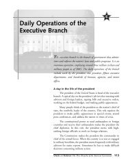 Daily Operations of the Executive Branch - Gale