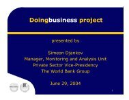 The Doing Business Project - Simeon Djankov - Fiscal Reform