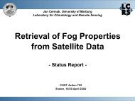 Retrieval of Fog Properties from Satellite Data - LCRS