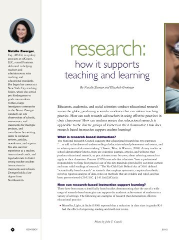 research: how it supports teaching and learning - Gallaudet University