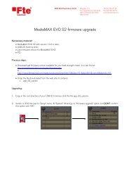 MediaMAX EVO S2 firmware upgrade - FTE Maximal