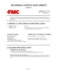 MATERIAL SAFETY DATA SHEET - FMC Corporation
