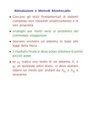 lezione del 20 novembre 2006 - metodi Montecarlo - Fisica