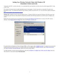 Setting Up a Wireless Network Client with Windows XP (fsustudent ...