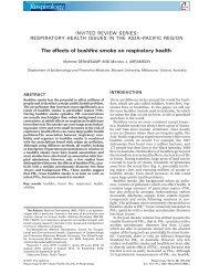 The effects of bushfire smoke on respiratory health - The Global Fire ...
