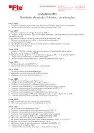 -mediaMAX MINI- Novidades da versão / Histórico de ... - FTE Maximal