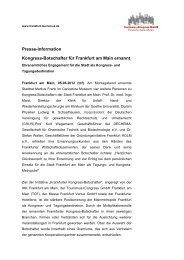 zur Pressemeldung - Tourismus und Congress GmbH