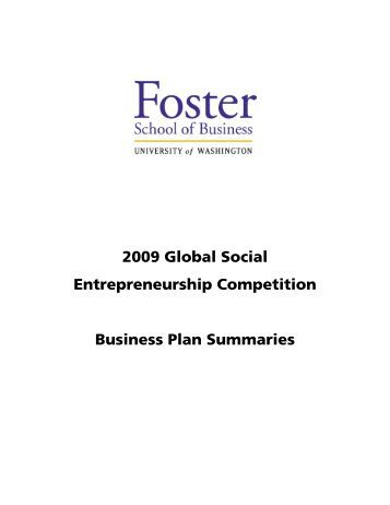 Social business plan competition