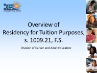 Overview of Residency for Tuition Purposes, s. 1009.21, FS - Florida ...