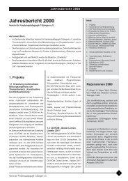Jahresbericht 2000 - Institut für Friedenspädagogik Tübingen