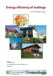 Energy efficiency of buildings - Nordic Folkecenter for Renewable ...