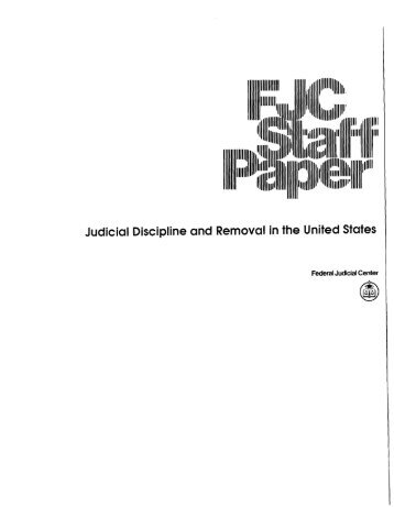 Judicial Discipline and Removal in the United States