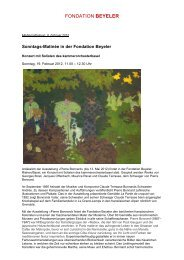 Donwload PDF (535 KB) - Fondation Beyeler